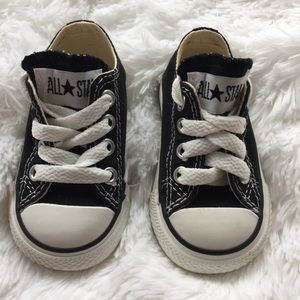 Baby Black & White Converse Sneakers